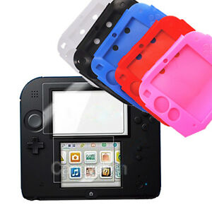 Silicone etui housse case cover transparent ecran for Housse nintendo 2ds xl