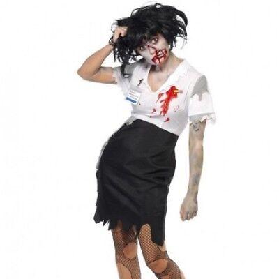 Vestito per Halloween Donna Lavorato a Morte Costume da Zombie da Smiffys