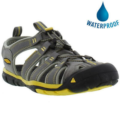 Keen Clearwater CNX Mens Grey Yellow Adjustable Walking Water Sandals Shoes 7-14
