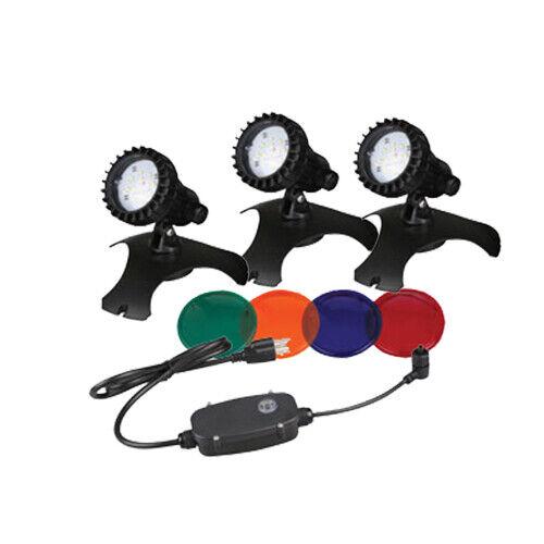 CLOSEOUT PRICING!!! Pondmaster 3 LED Light Set w/ Transformer & Photo Sensor