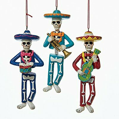Day Of The Dead Skeleton Mariachi Band Wobble Ornaments Set of 3 Halloween - Skeleton Band Halloween Decoration