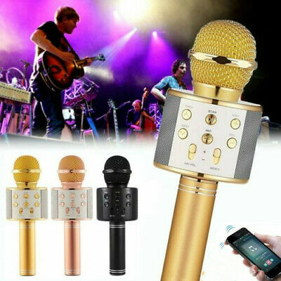 WS858 Wireless Bluetooth Microphone Karaoke KTV Handheld Mic USB Speaker Player