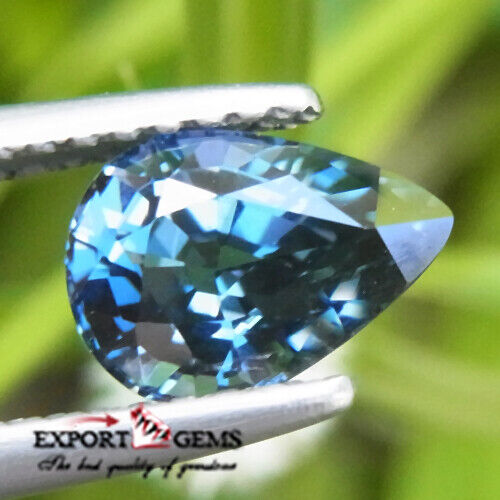FLAWLESS 1.17 CT NATURAL BLUE PEAR SPINEL TANZANIA