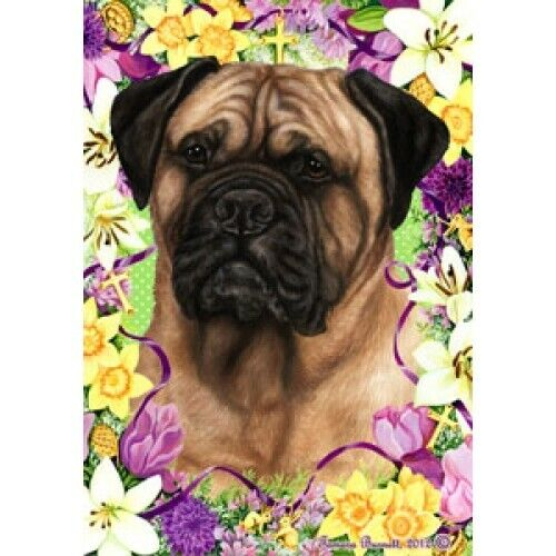 Easter House Flag - Bullmastiff 33050
