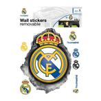 Real Madrid muursticker logo 3D