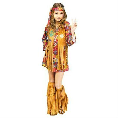 Peace & Love Hippie 60's Girls Child Costume by Fun World](Girls Hippie Costumes)
