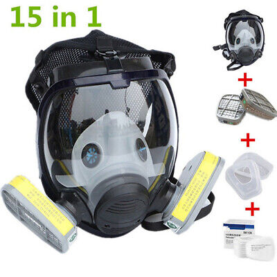 For 6800 15 In 1 Suit Gas Mask Full Facepiece Reusable Respirator Full Face