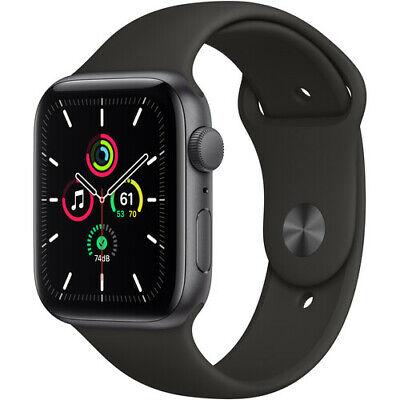 Apple Watch SE 44mm GPS Caja de aluminio en gris espacial Correa deportiva Negro