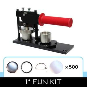 "Tecre 1"" button making machine with 500+ parts - $275"
