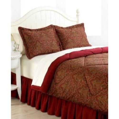 Ralph Lauren Red Comforter Set Queen Ebay