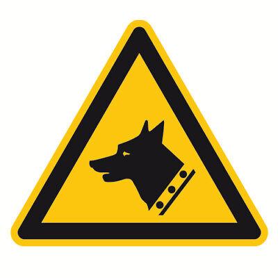 Warnzeichen Warnung vor Wachhund Sicherheitsschild 100mm aus selbstklebendem (Hund Zeichen)