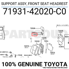 7193142020C0 Genuine Toyota SUPPORT ASSY, FRONT SEAT