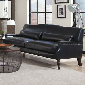 felipe leather sofa by Lazarro Leather NEW