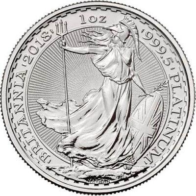 2018 1 oz British Platinum Britannia Coin (BU)
