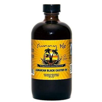 100% PURE JAMAICAN CASTOR OIL FOR HAIR & EYEBROW GROWTH HAIR LOSS TREATMENT 8oz