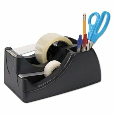 Recycled 2-in-1 Heavy Duty Tape Dispenser 1 And 3 Cores Black