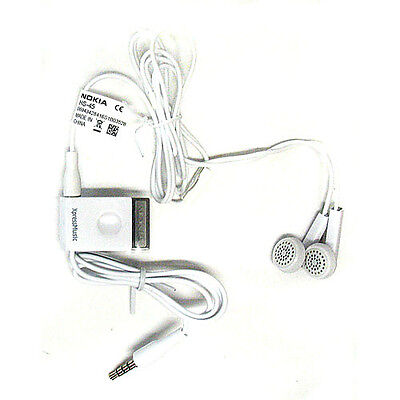 Hs-45 Stereo (NEW Original Nokia 3.5mm Stereo Headset Buds HS-45 AD-57 for 6110 5700 N78 N81)