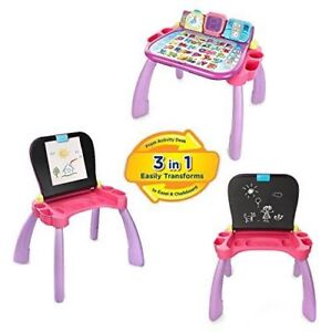 Vtech Pink activity desk with additional cards - Great condition