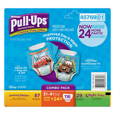 Huggies Pull Ups Training Pants For Boys Size 3T - 4T (116 Total)