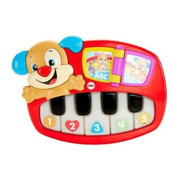 Fisher-Price leerplezier puppy's piano (Rood)