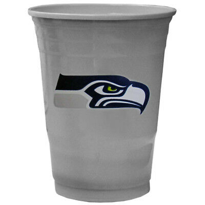 SEATTLE SEAHAWKS PLASTIC GAMEDAY CUPS 18OZ 18CT SOLO TAILGATE PARTY SUPPLIES NFL