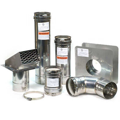 """4"""" Horizontal Stainless Steel Z-Vent Water Heater Vent Kit"""