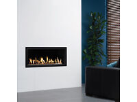 GAZCO STUDIO 2 GAS FIRE WITH WHITE STONES - NEW, NEVER USED.