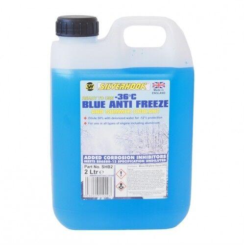 2 LITRE BLUE ANTIFREEZE SUMMER COOLANT ENGINE ANTI FREEZE BLUE READY USE 2L