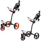 3 Wheel Push-Pull Golf Carts with Swivel