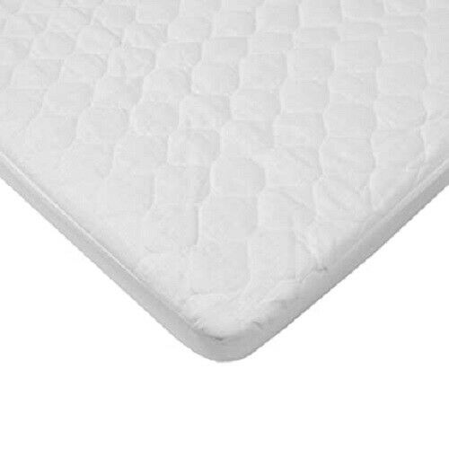 "American Baby BASSINET Waterproof Quilted Mattress Pad Cover 15""x 33"" Fitted"