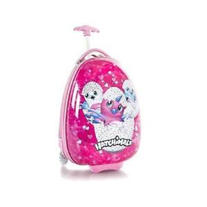 Spin Master Hatchimals 18 Inch Egg Shape Hardside Luggage Suitcase for Kids [Pink]