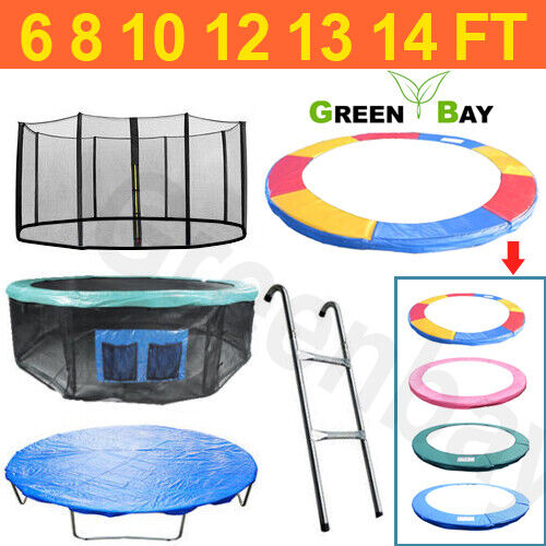 TRAMPOLINE REPLACEMENT PAD PADDING SAFETY NET COVER LADDER SKIRT 6 8 10 12 14FT цена 999.95 GBP