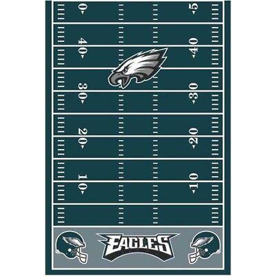 NFL PHILADELPHIA EAGLES PLASTIC TABLE COVER ~ Birthday Party Supplies - Philadelphia Eagles Birthday
