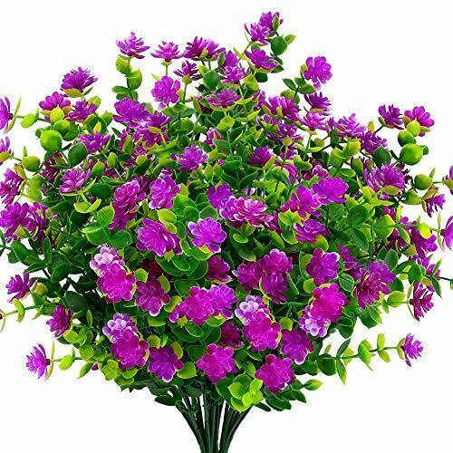 Artificial Flowers Fake Outdoor UV Resistant Boxwood Shrubs Faux Plastic Plants