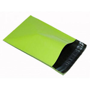10-LIME-GREEN-Mailing-Postage-Parcel-Post-Bags-12-x-16-Self-Seal-305x406-Neon