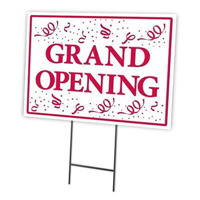 Grand Opening Outdoor Double Sided Sidewalklawnyard Sign