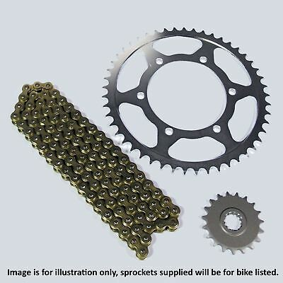 Honda CBF 125 2014 Heavy Duty Gold Chain and Sprocket Kit Set CBF125