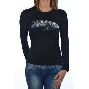 T shirt calvin klein femme manche longue cwp92b noir ou - Tee shirt manche longue calvin klein ...