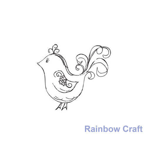 Kaisercraft mini stamps - 26 wording / patterns Scrapbooking card making - Flourish Bird