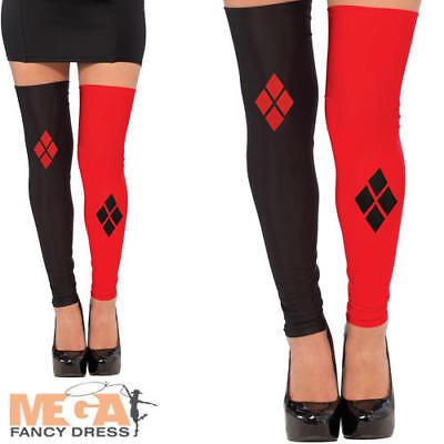 Harley Quinn Fancy Dress Stockings Superhero Ladies Fancy Dress Adult Costume Ac - Harley Quinn Stocking