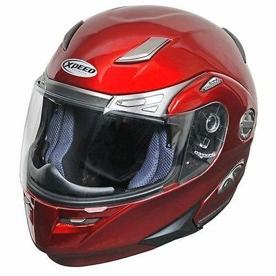 - Xpeed Roadster Modular Flip-Up Motorcycle Street Helmet Candy Red XXL 2XL