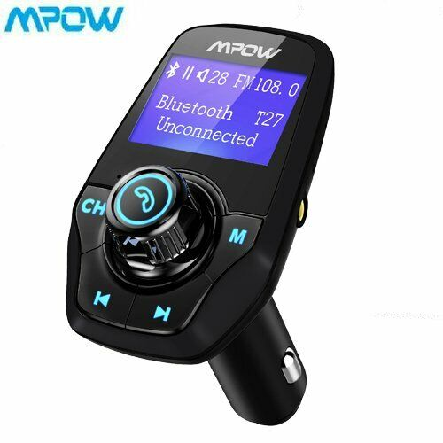 Mpow Bluetooth FM Transmitter Wireless Radio Adapter dual USB Charger Mp3 Player