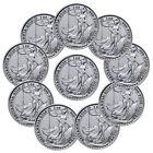 Lot of 10 - 2016 Great Britain 2 Pound 1 Troy Oz Silver Britannia Coins SKU38068