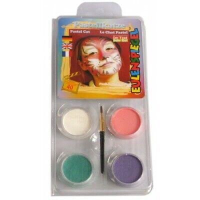 Halloween Face Paint - Tiger Pastel Make Up - Tiger Kostüm Make Up