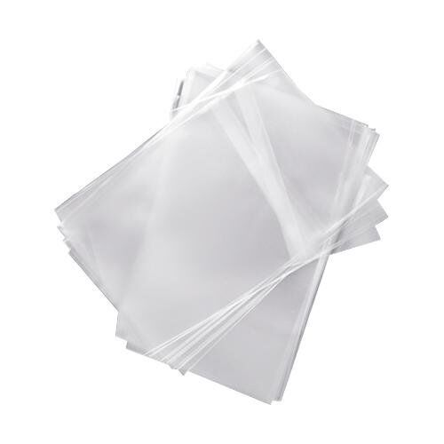 100 OPP Resealable Plastic Wrap Bag for Standard 14mm DVD Case Peal & Seal