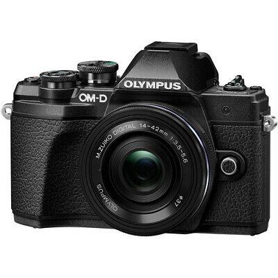 Olympus OM-D E-M10 Mark III Digital Camera (Black) w/14-42mm EZ Lens #CR