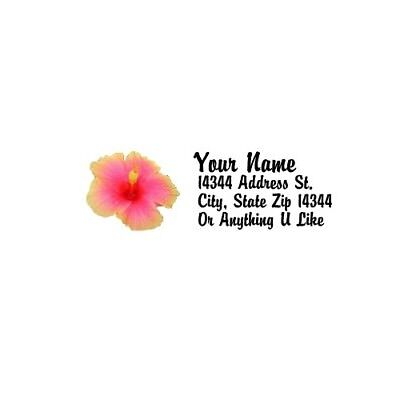 - Hibiscus Design #2 Personalized Address Labels 80PCS-FREE US Shipping
