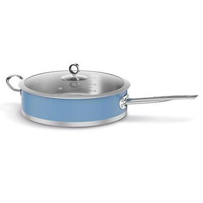 . Morphy Richards Accents Saute Pan with Glass Lid - 28 cm, BLUE