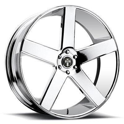 """30"""" x10 Dub Baller S115 Chrome 5x120 13 ET S115300021+12 Rims Wheels"""