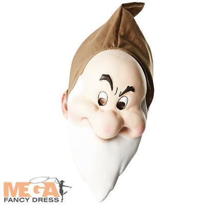 Disney Grumpy Costume (Grumpy Dwarf Mask Disney Snow White Fancy Dress Costume Adult Mens)